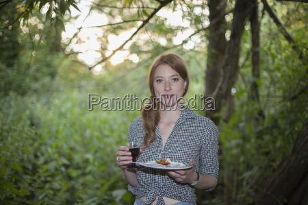 woman at garden party