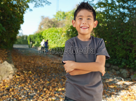 young asian boy smiling portrait