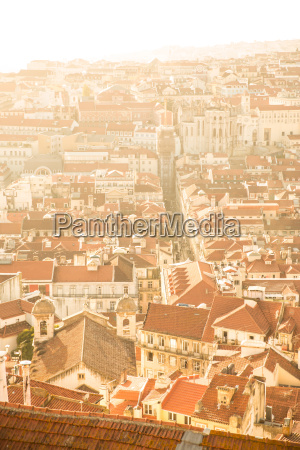 lisbon portugal viewed from above