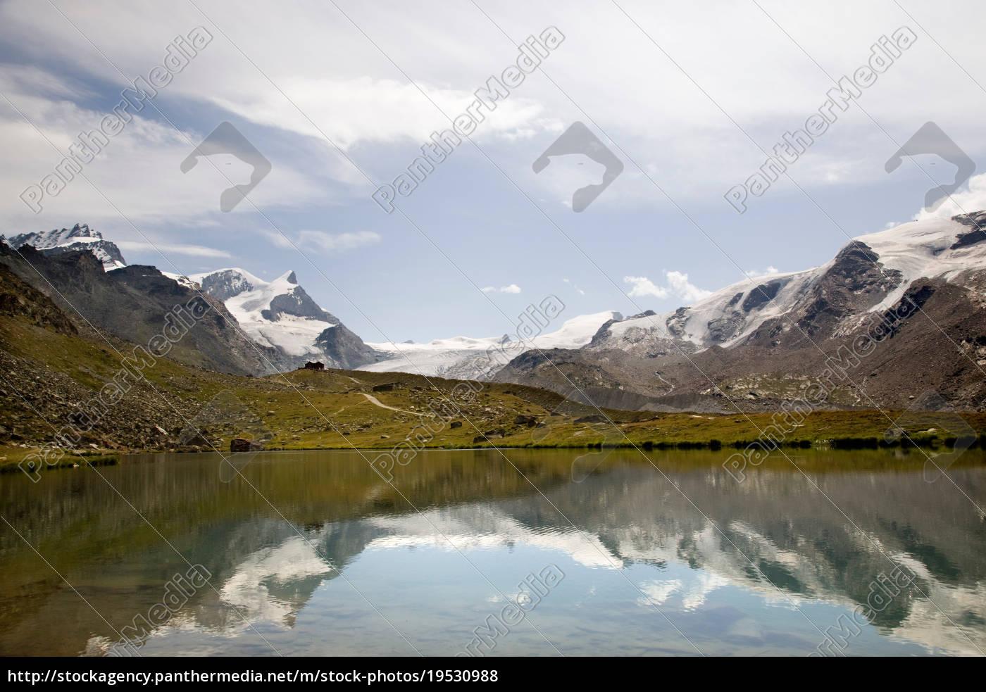 alpine, landscape, , , lake, , , glacier, - 19530988
