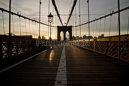 brooklyn bridge new york city usa