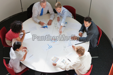 business colleagues working together in meeting