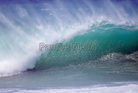 turbulent water off northern coast of