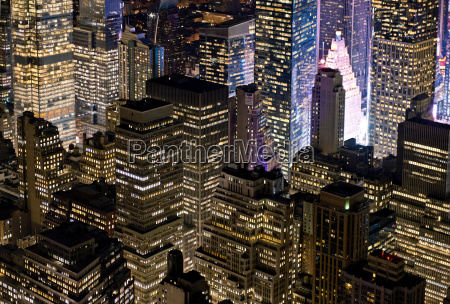 blick, auf, manhattan, new, york, city, usa - 19543942
