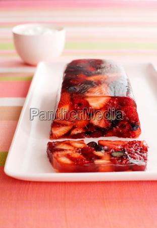 plate of berry terrine