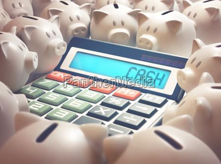 piggy bank cash calculator