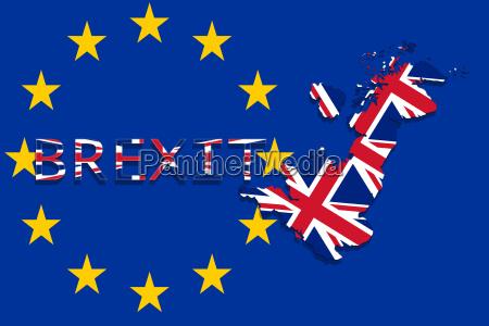 grossbritannien karte mit brexit auf euro
