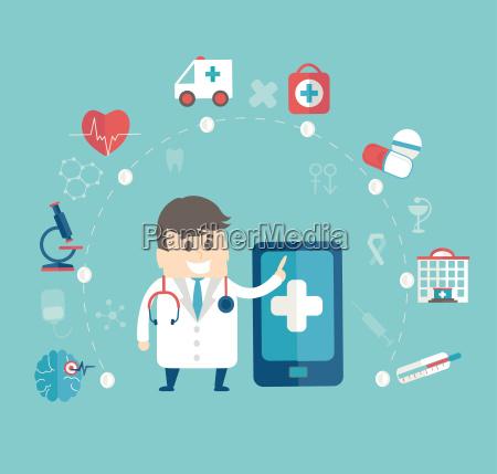 mobile, medizinische, konzept. - 19590978