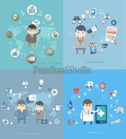 konzept fuer beratung medizin marketing oekologie