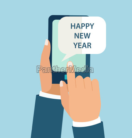 new year concept for mobile app