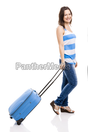 woman ready for travel