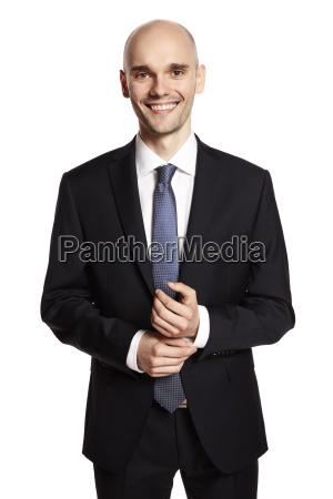 smiling elegant man