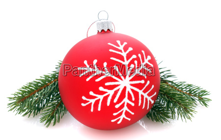 red christmas ball isolated on