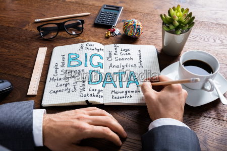 businessperson working on big data concept