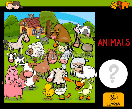 counting farm animals activity