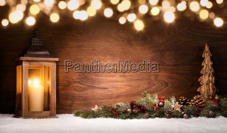 weihnachten arrangement mit laterne weihnachtsdeko und