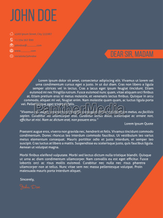 cover letter resume cv template with