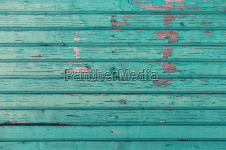 old wooden boards painted in blue