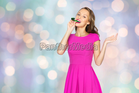 happy young woman or teen girl