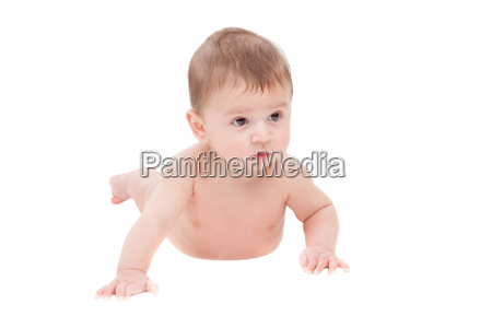 cute baby lying isolated