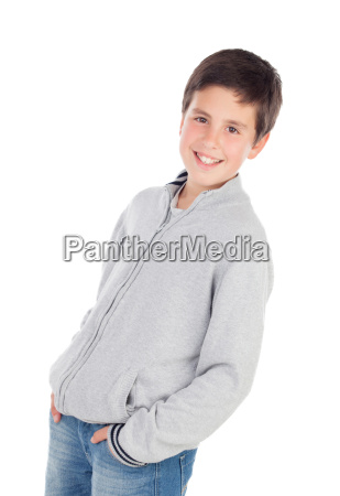 smiling teenage boy of thirteen