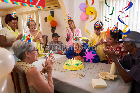 family reunion for birthday party celebration