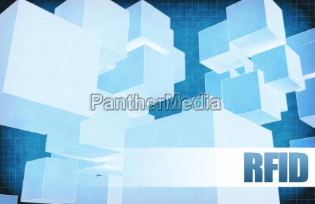 rfid on futuristic abstract