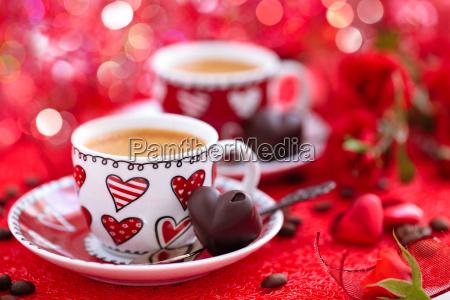kaffee fuer den valentinstag