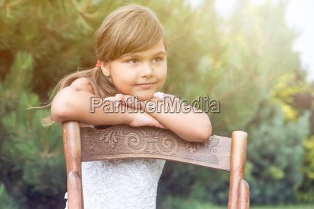 portrait of long haired little girl