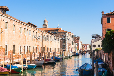 canal and buildings in cannaregio in