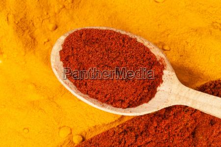 paprika pulver puder curry pudern gelbwurz