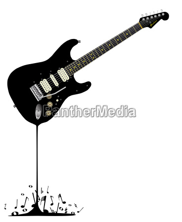 fluid black guitar