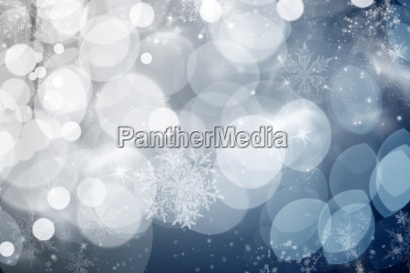 blue holiday abstract background with stars