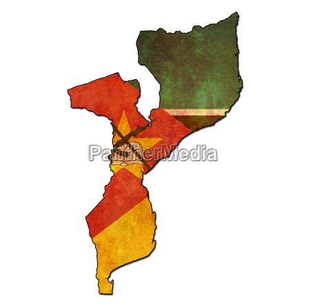 mosambikanischen territorium mit flagge