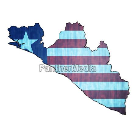 liberia gebiet mit flagge
