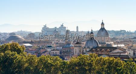 panorama der stadt rom in der