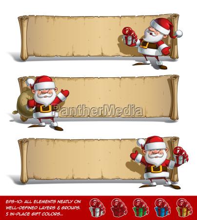 happy santas papyrus gift set