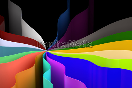 colorful sheets background 3d rendering
