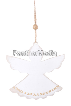 christmas decorations white angel isolated