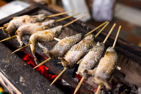 japanische fisch vom grill