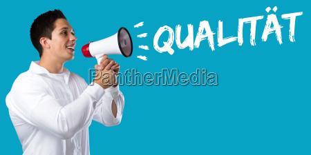 business konzept mit qualitaet erfolg qm