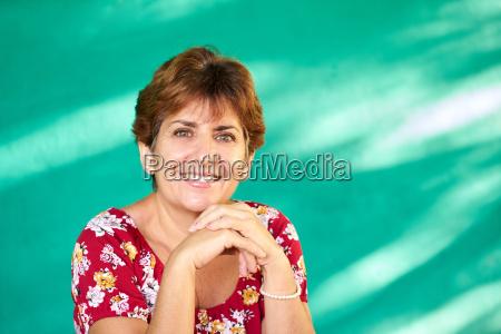 real people portrait happy mature hispanic