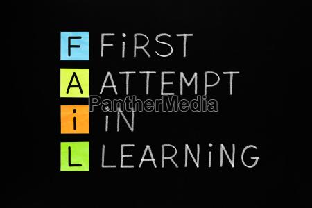 fail erster versuch im lernen