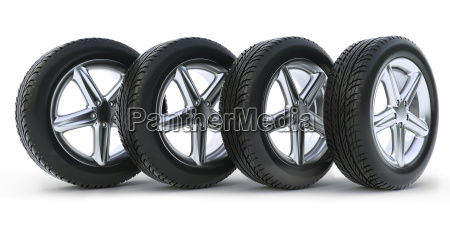 car tire on a white background
