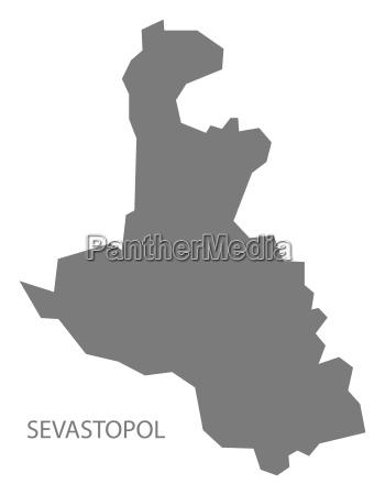 sewastopol ukraine karte grau