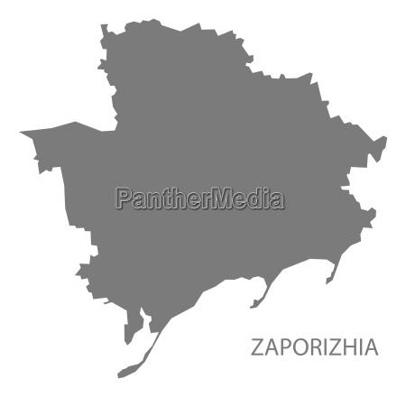 saporischschja ukraine karte grau