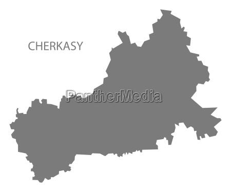 tscherkassy ukraine karte grau