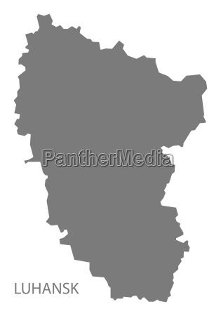 luhansk ukraine karte grau