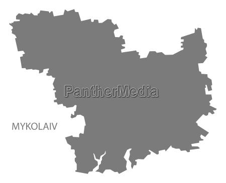 mykolaiv ukraine karte grau