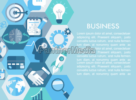 business concept with flat icons